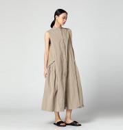 Cotton and linen vest dress
