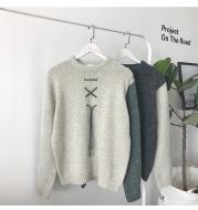 Contrast long sleeve sweater