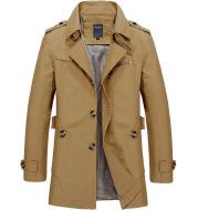 Mid-length windbreaker jacket men