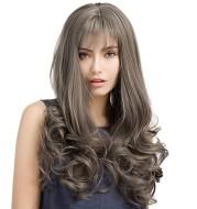 Long curly hair high temperature silk hood