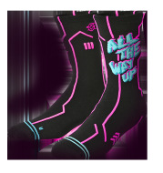 Basketball color punk series socks