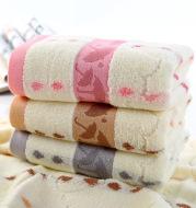Cotton adult children jacquard towel