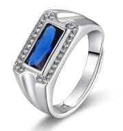 Adjustable Kyanite Ring for Men