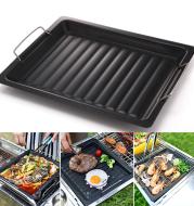 Rectangular nonstick pan barbecue dish