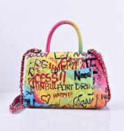 Graffiti painted handbag