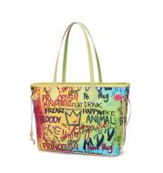 Color graffiti tote bag