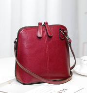 Women's leather shoulder shell bag