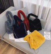 Plush women bag handbag