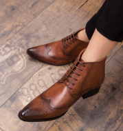 Men's fashionable patterned Martin boots