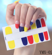 Gummed nail stickers
