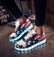 Couple's charging colorful luminous shoes