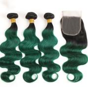 T1B green body wave hair
