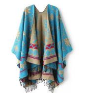 Ethnic fringed scarf