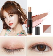 Two-color eye shadow stick