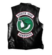 Men's patch leather vest
