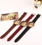 Stylish vintage music symbol belt watch