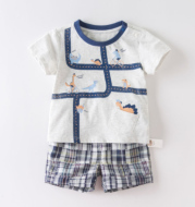 Baby short sleeve t-shirt set