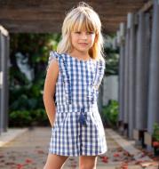 Women's Big Kids' Cotton Jumpsuit