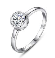 Ladies Ring Simple Ruili Engagement Silver Ring