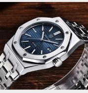 Simple waterproof luminous watch men