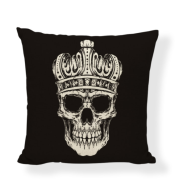 Skull and cotton pillow