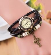 Female bracelet cross watch