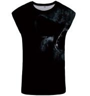 Plus size round neck casual sleeveless