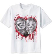 Horror printed short-sleeved T-shirt