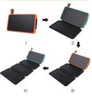 Solar charging treasure folding  sleeve