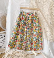 Girls' small floral wide-leg sunscreen pants