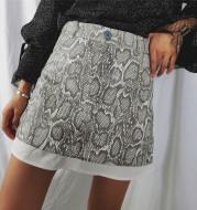 Snake pattern a-line skirt skirt