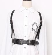Girdle waistband women's decorative denim skirt shirt high waist thin belt