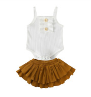 Fashion suspender jumpsuit skirt