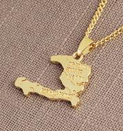 Haiti Map Necklace
