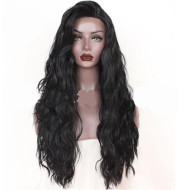 Front lace synthetic long curly hair