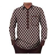 Men's T-shirt with printed batik cotton