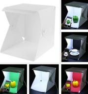 Adjustable double light bar LED light soft light shooting table mini photography box small light box
