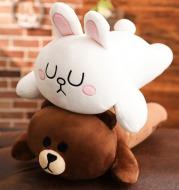 Cute plush toys sleeping pillow