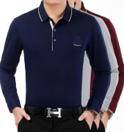 Men's solid color oversized cotton T-shirt
