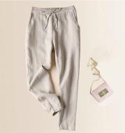 Women's cotton and linen harem pants
