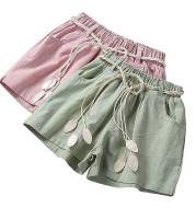 Children's thin cotton and linen shorts