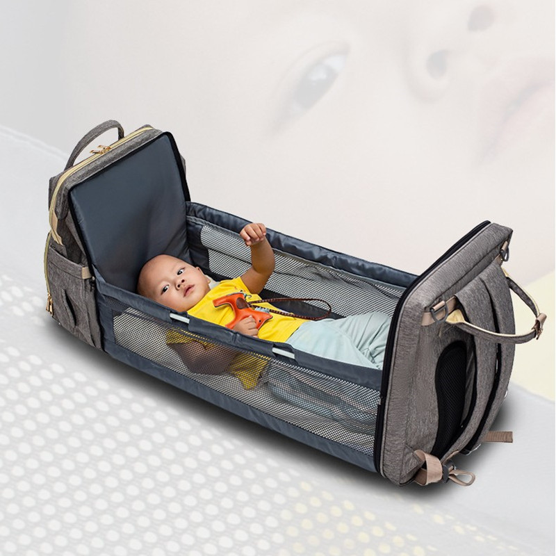 Furniture - Multifunctional Mommy Backpack and Baby Bed