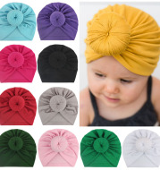 Children's turban hat baby knotted Indian beanie
