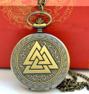 Triangle pyramid pocket watch