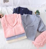 Solid color crepe loose pajamas