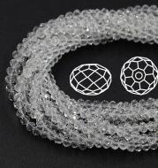 Transparent crystal flat beads