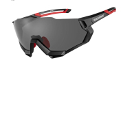 Color changing cycling glasses