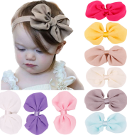 Solid color baby hair band