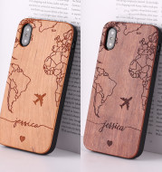 Wooden mobile phone case