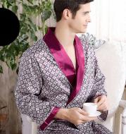 Men's silk nightgown summer